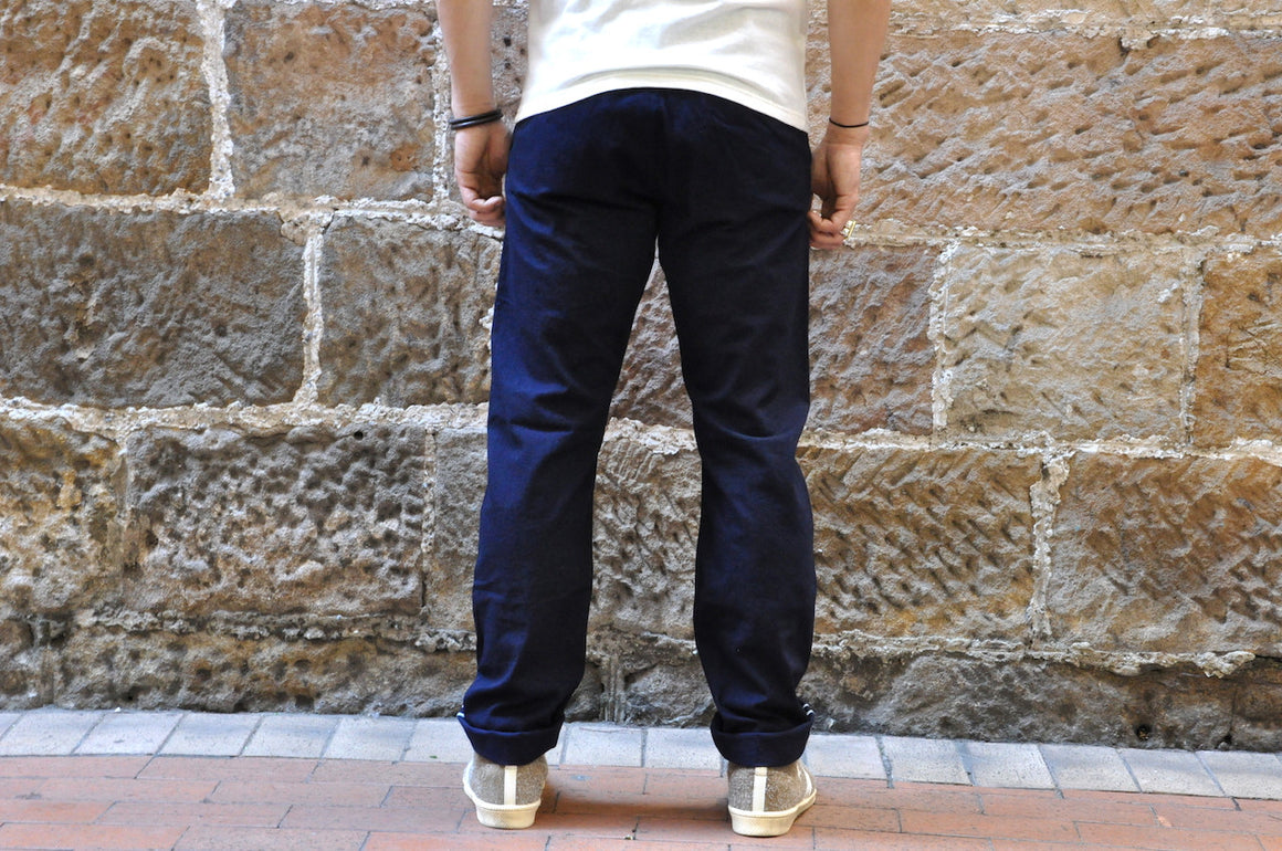 "Stevenson Overall ""Old Glory"" 12oz Indigo Dyed Selvage Duck Chinos (Relax Tapered fit)"