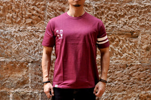 Momotaro 7oz 'Battle of Onigashima' Tubular Tees (Burgundy)
