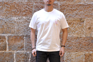 "Momotaro X CORLECTION 7oz ""ONI-ISLAND"" Tubular Tee (White)"
