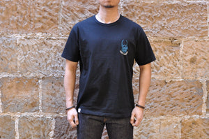 "Momotaro X CORLECTION 7oz ""ONI-ISLAND"" Tubular Tee (Black)"
