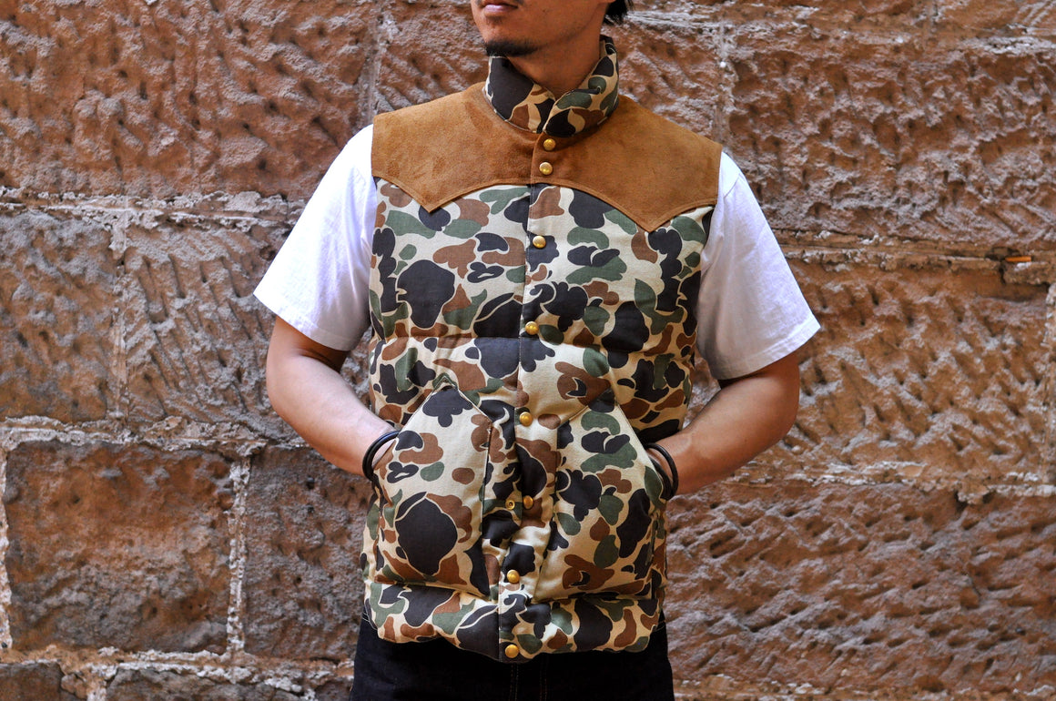 Warehouse X Rocky Mountain Camo HBT Down Vest