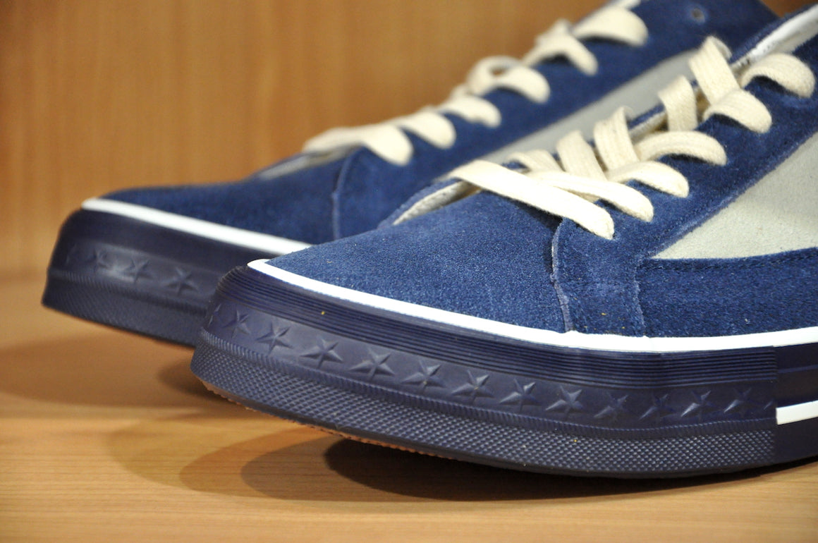 Warehouse '5 Star' Suede Sneakers (Indigo X Taro)