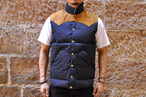Warehouse X Rocky Mountain Indigo Denim Down Vest