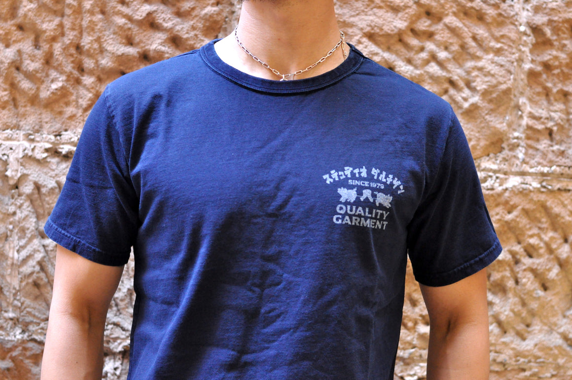 "Studio D'Artisan 6oz Indigo ""Satisfaction Guaranteed"" Loopwheeled Tee"