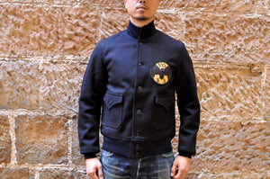 "Freewheelers ""USN VO-3S"" Civilian A-1 Wool Jacket (Overseas Edition)"