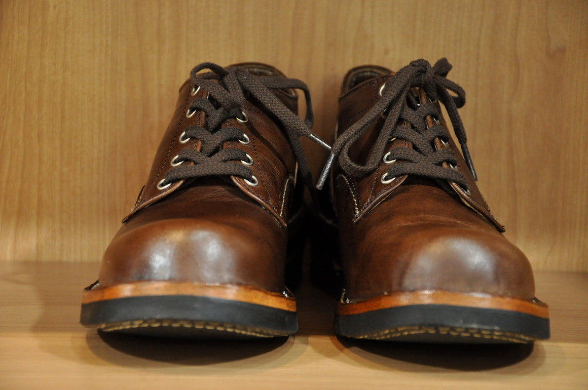 The Flat Head Brown Tea-cored Horsebutt Oxford Shoes (Special Edition)