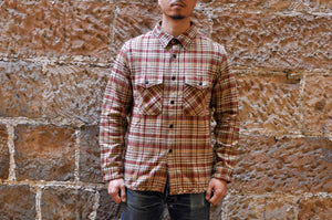 UES 15oz Ultra Heavyweight Flannel Workshirt (Beige)