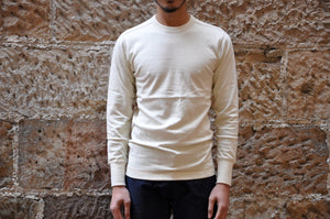 "Freewheelers 7.5oz ""Power Wear"" Loopwheeled L/S Tee (Straw Cream)"