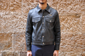 Lewis Leathers Sheepskin Western Jacket (Dark Navy)