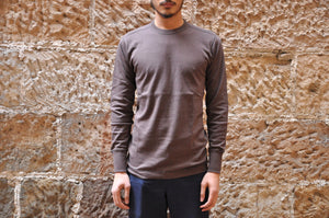 "Freewheelers 7.5oz ""Power Wear"" Loopwheeled L/S Tee (Coaltar)"