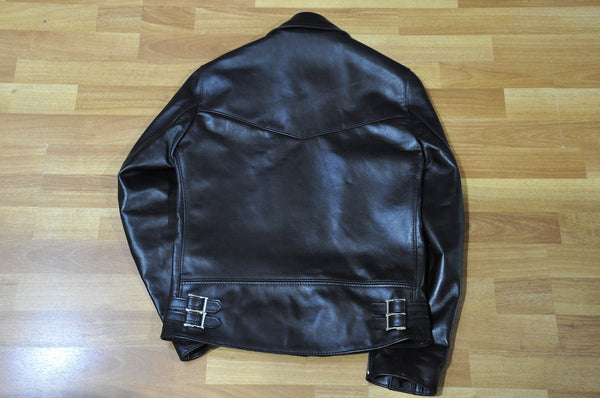 Lewis Leathers Black Horsehide Lightning 402T (Tight fit)
