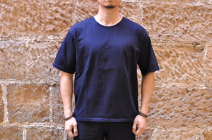 Orgueil 9oz Loopwheeled Plain Tee (Grand Indigo)