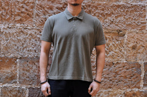 Pure Blue Japan X CORLECTION 7oz Sport Polo (Olive)