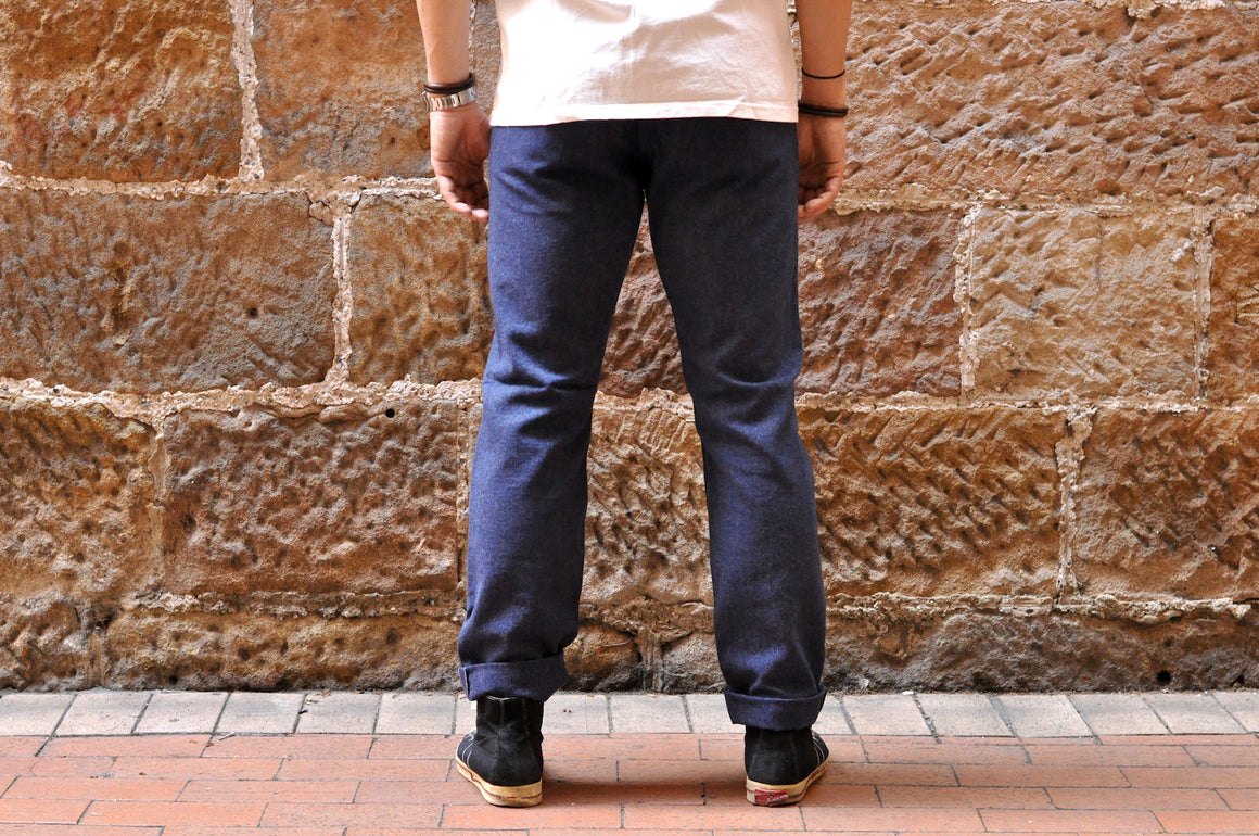 "Stevenson Overall ""Old Glory"" 12oz Heather Indigo Selvage Convert Twill Chino (Relax Tapered fit)"