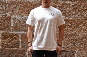 Samurai 6.7oz 'Battle Of KawanaKajima' Loopwheel Tee (White)