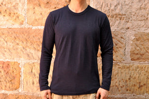 Pure Blue Japan 8oz Indigo Double Face L/S Tee