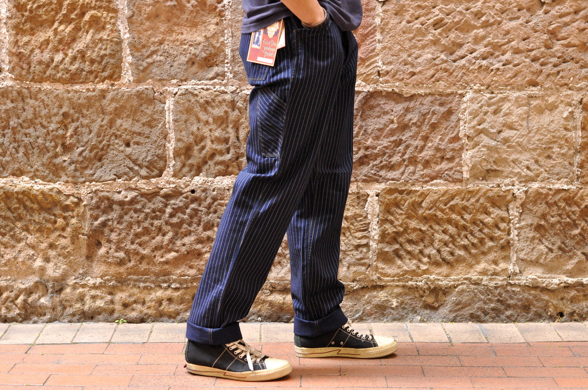 "Freewheelers ""Golden Spike"" Indigo Wabash Trousers (Straight Tapered fit)"