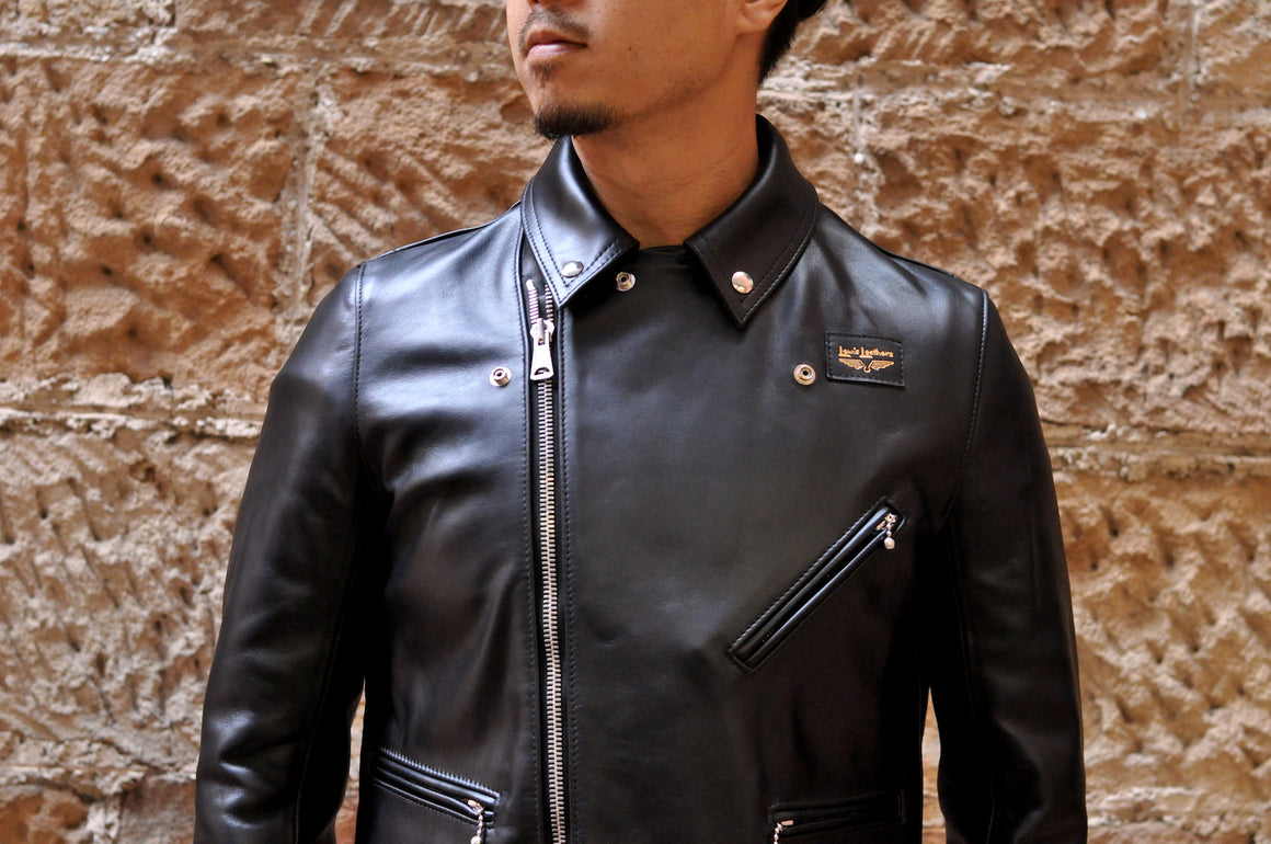 Lewis Leathers Black Full Grain Cowhide 'Cyclone' Jacket (Tight Fit)