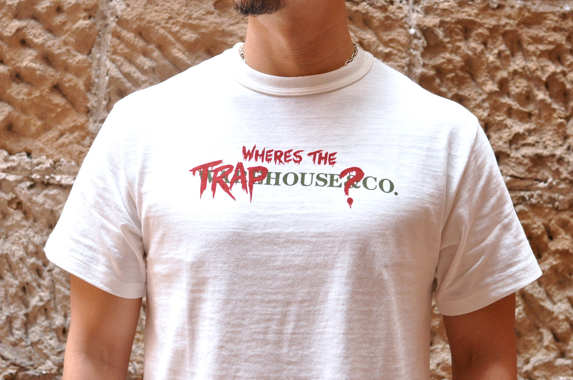 Warehouse X CORLECTION 5.5oz 'Traphouse' Loopwheeled Tee (White)