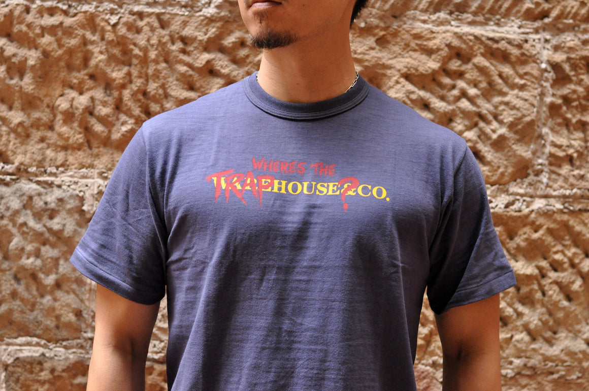 Warehouse X CORLECTION 5.5oz 'Traphouse' Loopwheeled Tee (Navy)