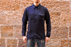 Momotaro 14oz Indigo Dobby Jacketed Shirt
