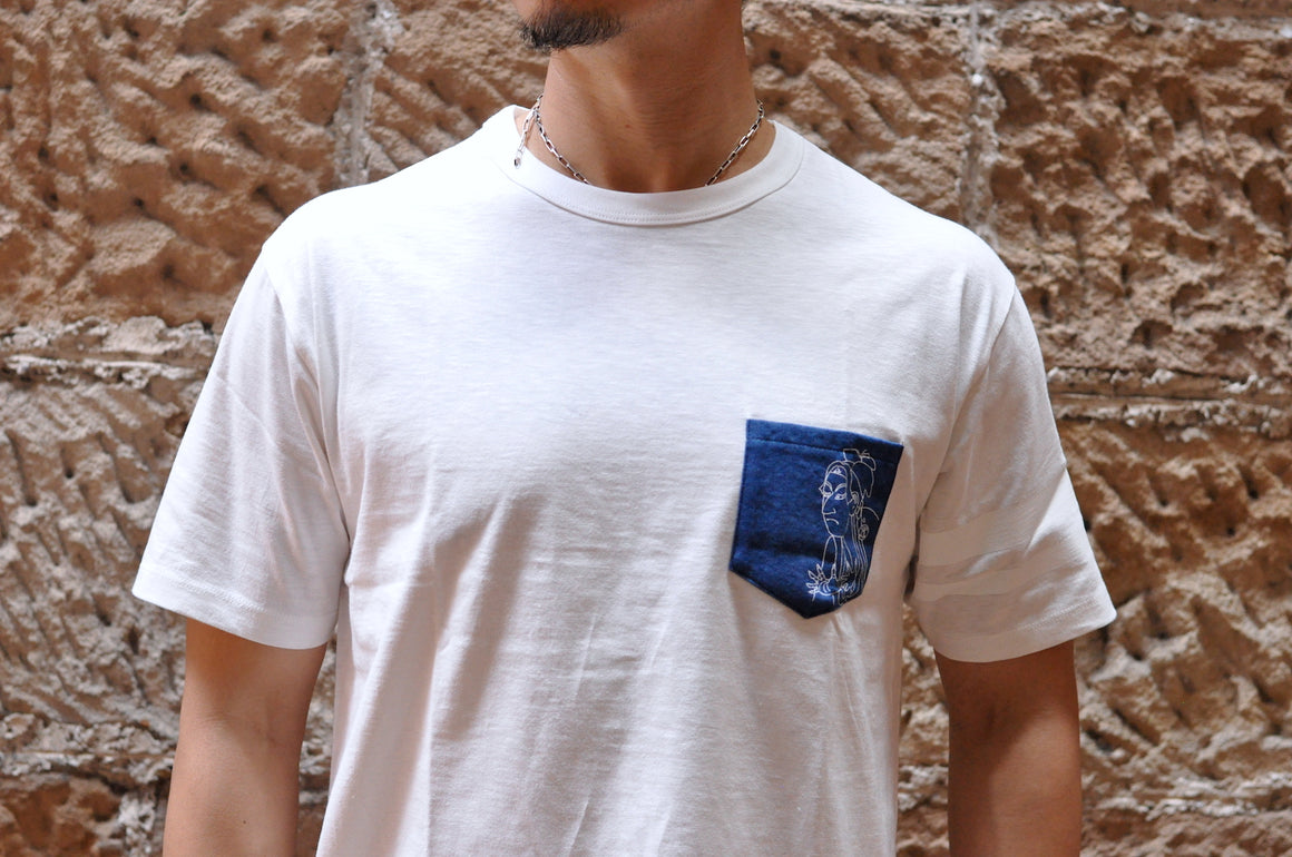 "Momotaro ""Warrior"" Denim Pocket GTB Tee"