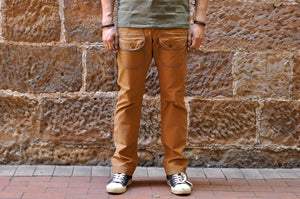 Pure Blue Japan 12oz Cotton Sateen Field Pants (Camel)
