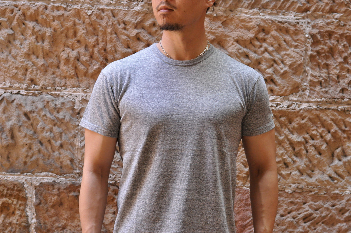 The Flat Head 7oz Super Slow Loopwheeled Tee (Heather Grey)