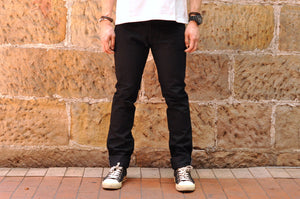 Iron Heart 555S-14BB 14oz Black Denim (Slim Tapered Fit)