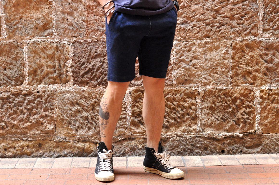 Pure Blue Japan Indigo Sweat Shorts