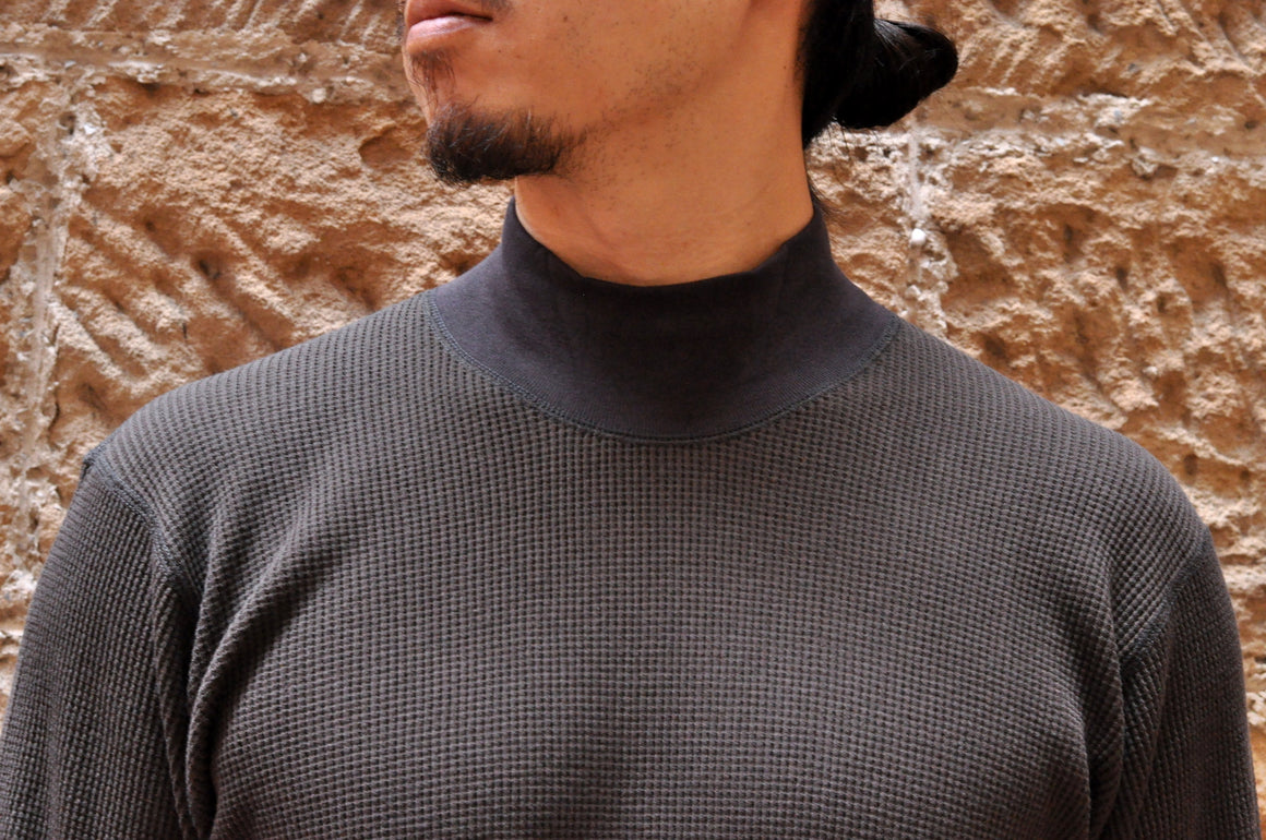Freewheelers 'Half Neck' Thermal Shirt (Charcoal)