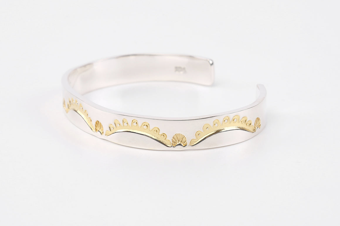 Legend  10mm 'Crown' Bangle With 24K Gold