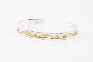 Legend  6mm 'Golden Bridge' Bangle With 24K Gold