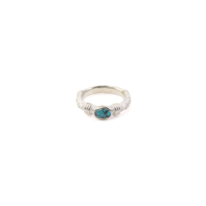 Legend Size Small  'Anti-Ghost' Ring with Turquoise