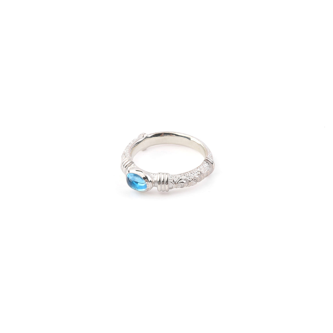 Legend Size Small 'Anti-Ghost' Ring with Blue Topaz