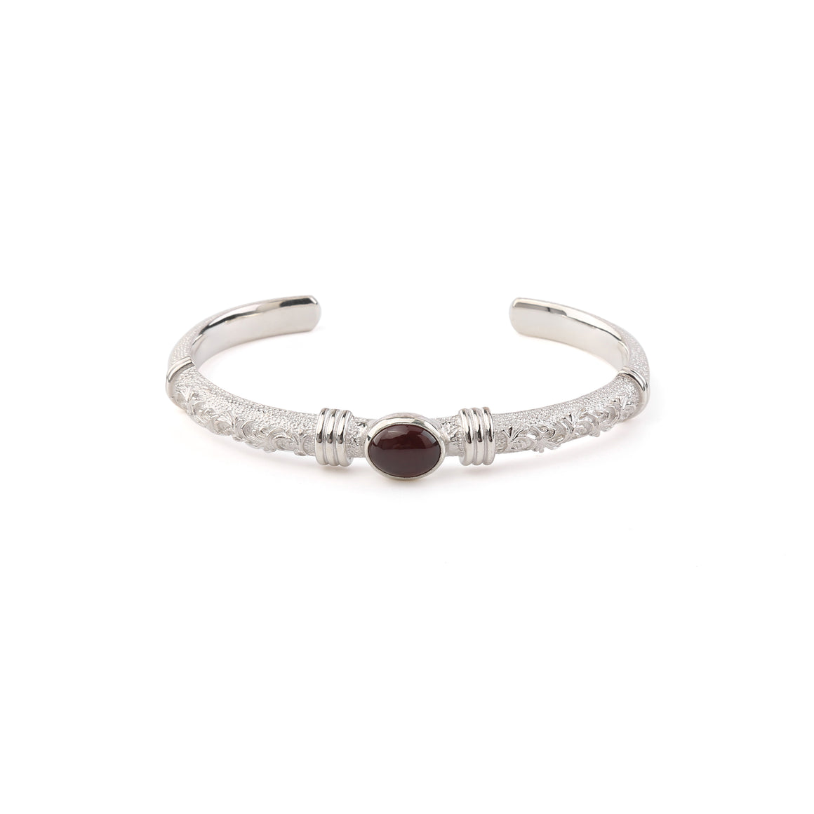 Legend Medium Size 'Anti Ghost'  Bangle with Garnet