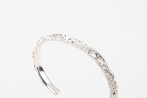 Legend 6mm 'Flora' Silver Bangle