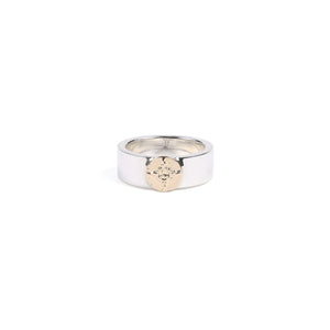 First Arrow's 8mm 'Bungled' Ring With 18K Gold Emblem (R-001)