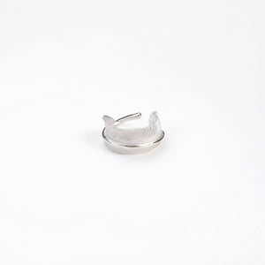 "Legend ""Curled"" Medium Feather Silver Ring"