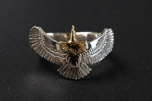 First Arrow's Eagle Ring with 18K Gold Head (R-180)
