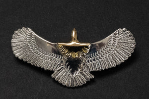 First Arrow's X-Small Eagle Pendants with 18K Gold Head (P-595)