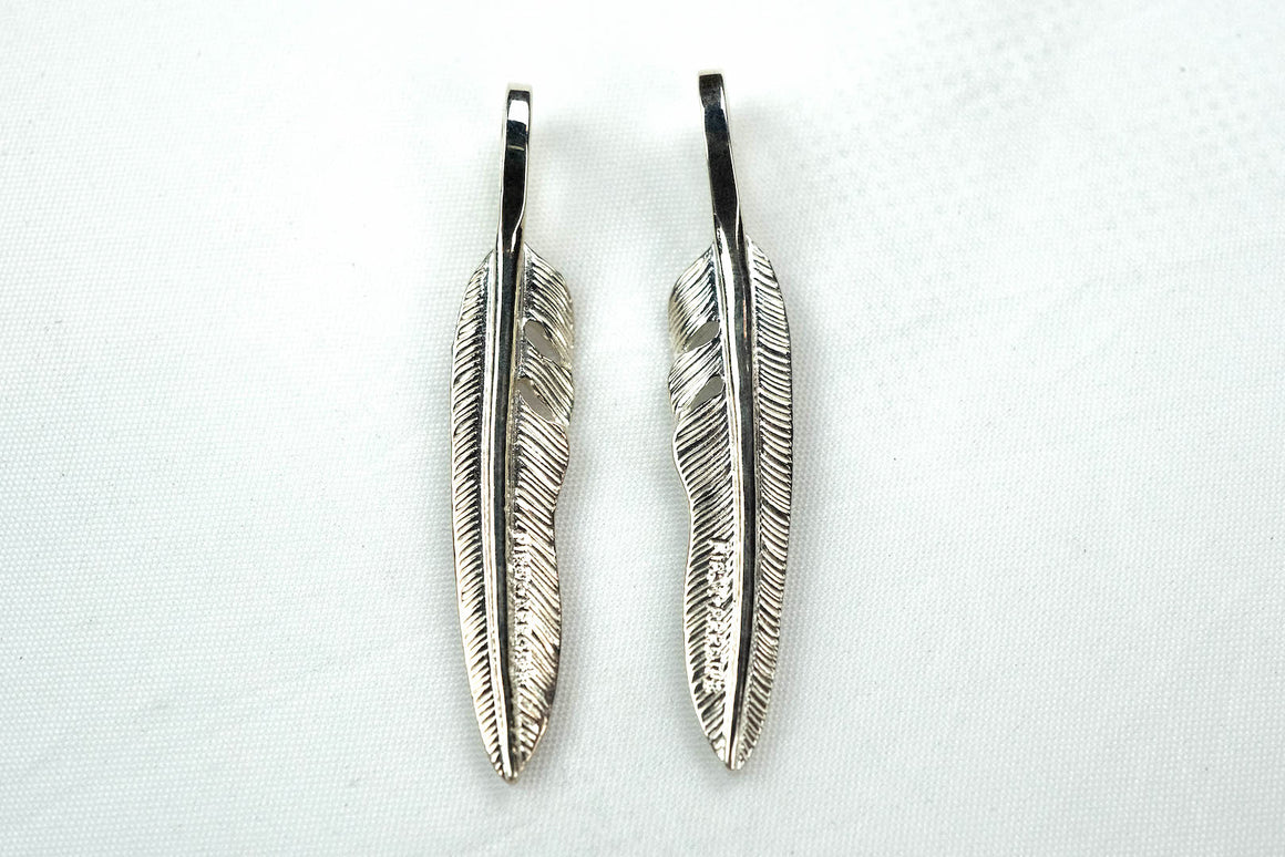 "First Arrow's Small ""Kazekiri"" Silver Feather Pendants (P-431)"