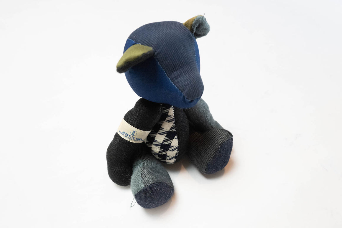 Japan Blue Indigo Patchwork Denim Bear