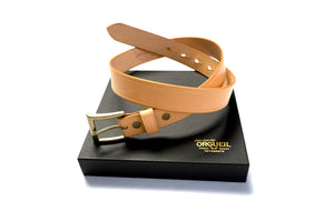 Orgueil 'Benz' Leather Belts (Camel)