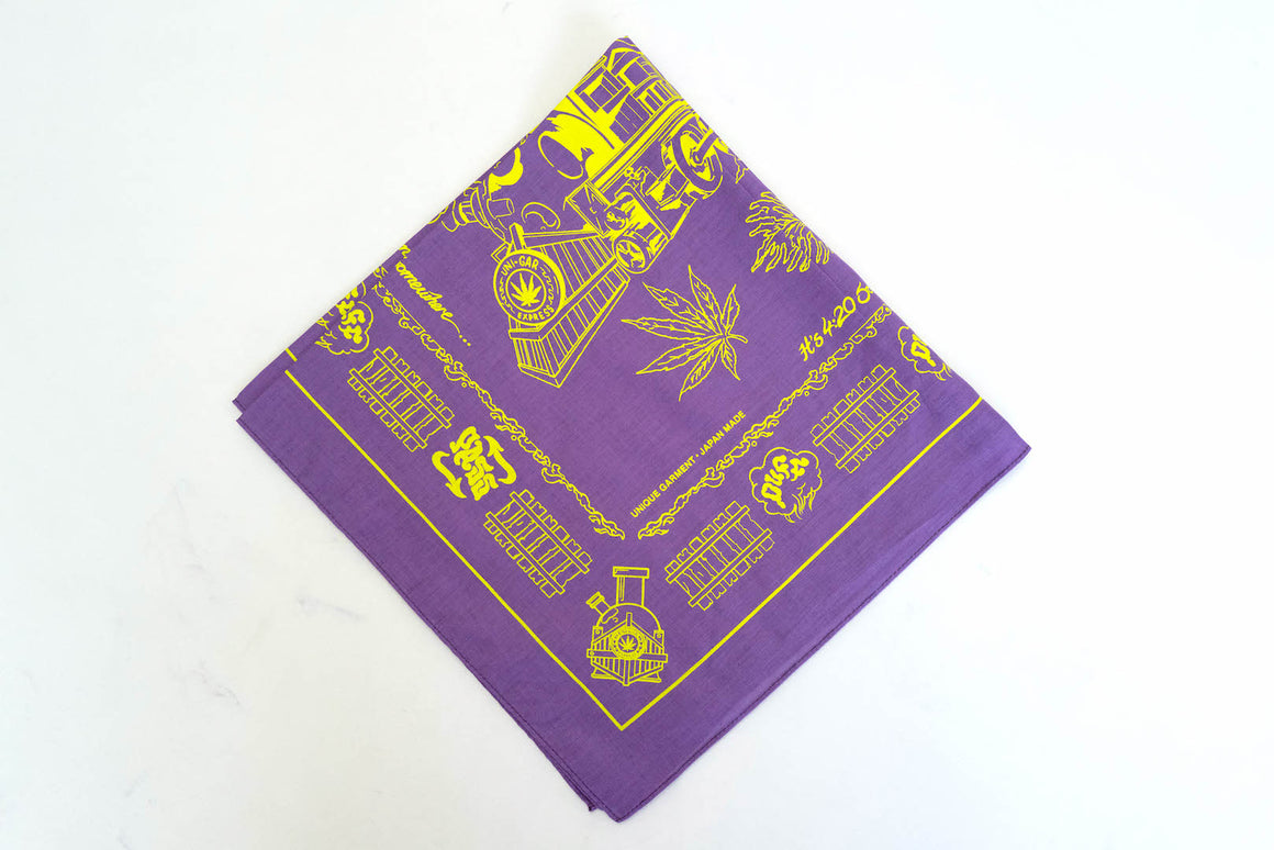 Unique Garment 'Have a Good Trip' Bandana (Purple)