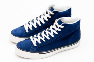 "Warehouse Suede High Top ""Flyer"" Sneakers (Navy)"