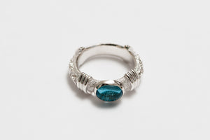 Legend Size Large 'Anti-Ghost' Ring with Blue Topaz