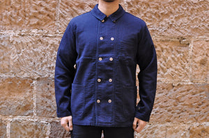 Pure Blue Japan Indigo Sashiko Short Chore Jacket