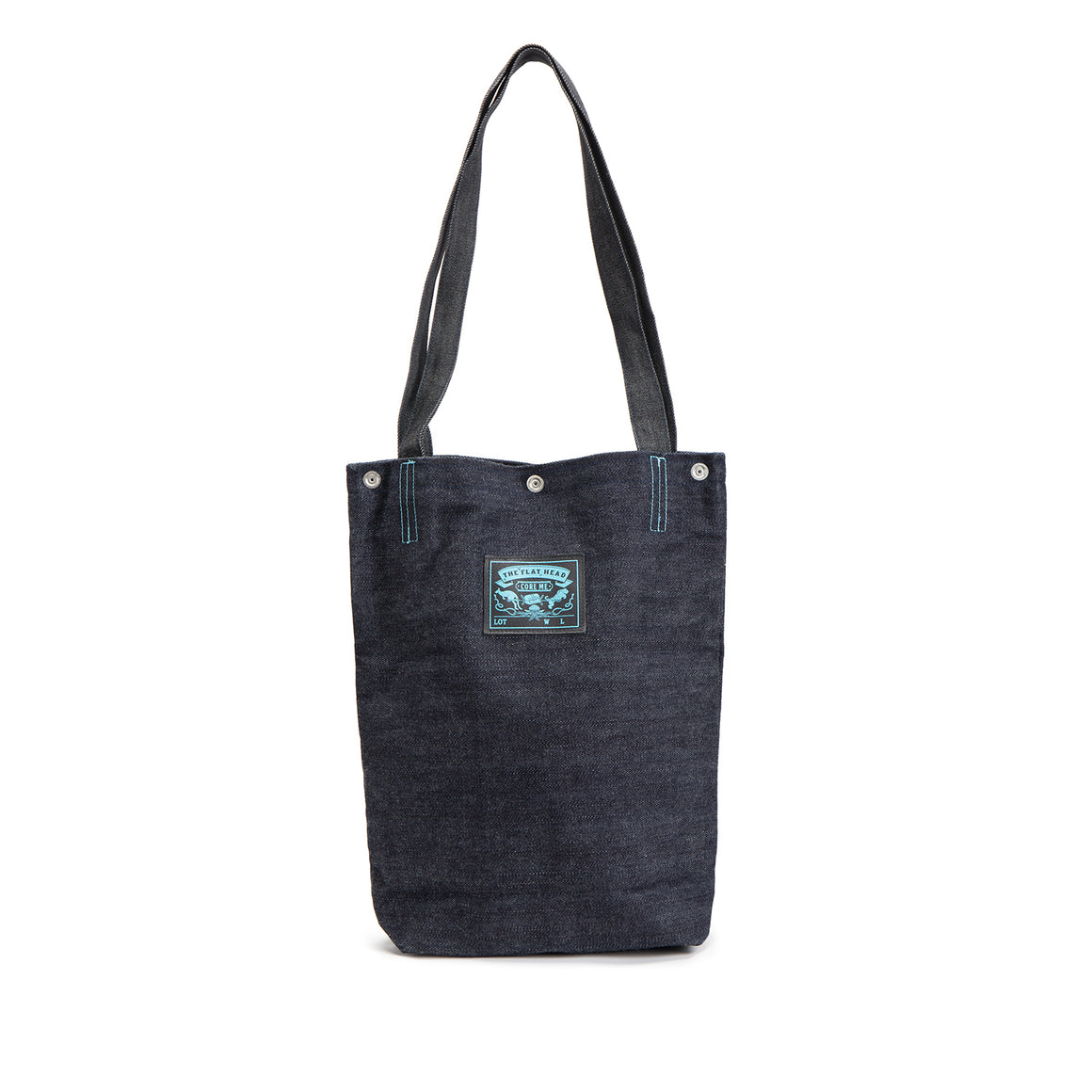 "T.F.H X R.J.B X CORL ""CORE ME"" Denim Tote Bag"