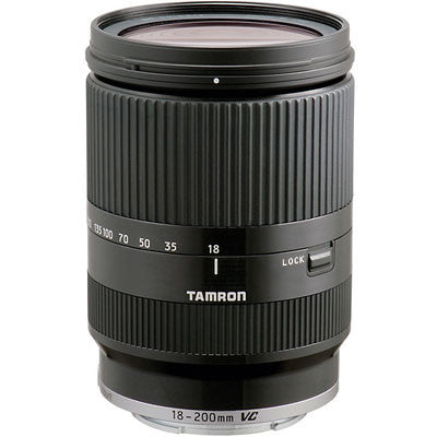Tamron 18-200mm f3.5-6.3 Di-III VC Black Lens - Sony E-Mount Fit - Campkins - 1